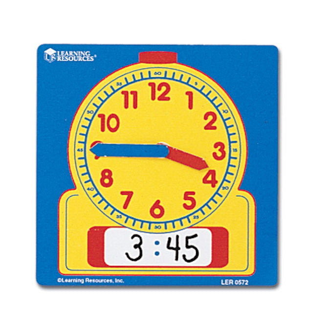 Student Telling Time Clocks Write-On and Write-Off - EducationalLearningGames.com