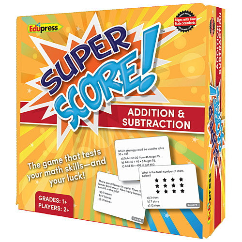 Super Score Game, Addition Subtraction, Grades 1–2