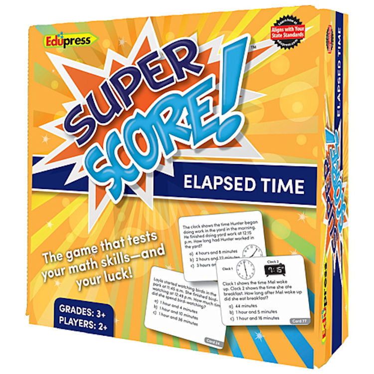 Super Score Game, Elapsed Time, Grades 3+