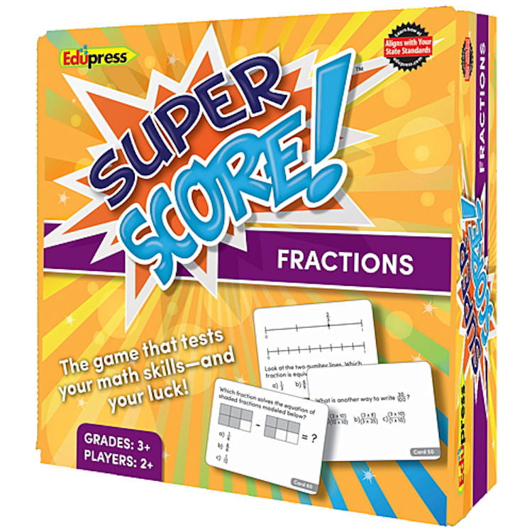 Super Score Game, Fractions, Grades 3+