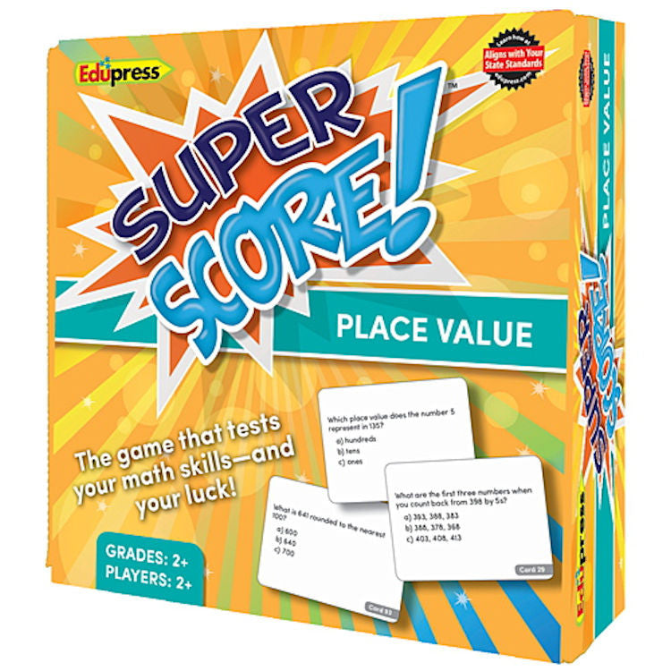 Super Score Game, Place Values, Math Games Grades 2 - 3