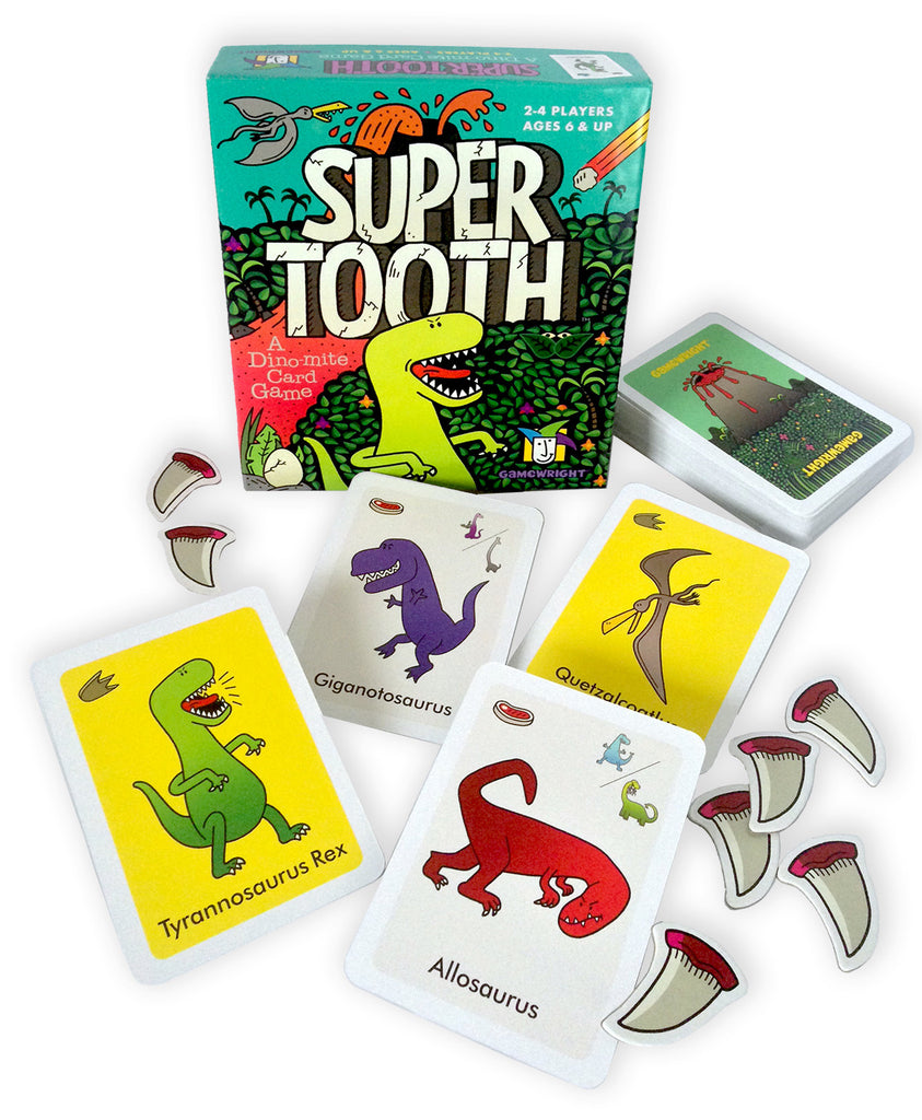 Super Tooth A Dino-mite Card Game - EducationalLearningGames.com