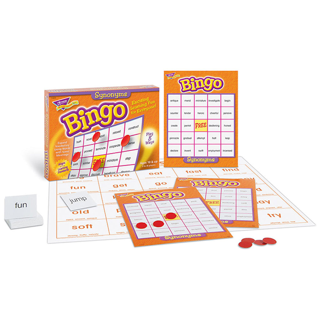 Synonyms Bingo Game - EducationalLearningGames.com