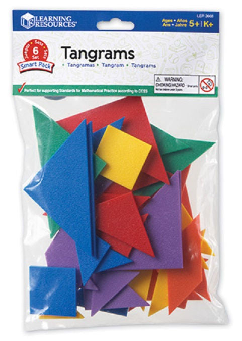Tangrams Smart Pack, Set of 42 (6 sets of 7-piece tangrams)