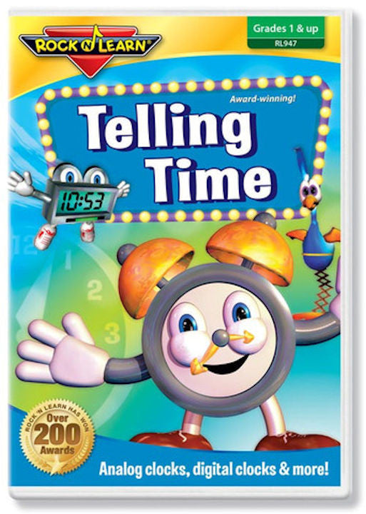 Telling Time DVD Video Rock N Learn EducationalLearningGames.com