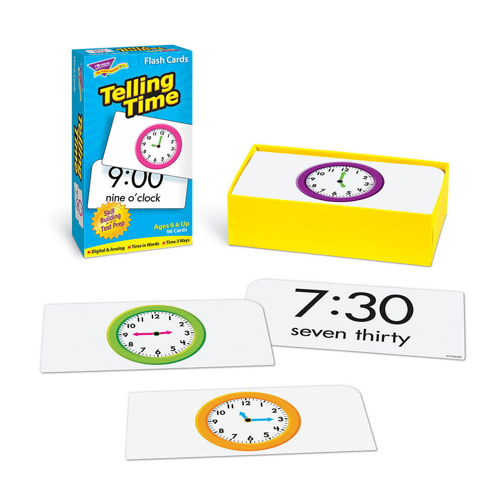 Telling Time Skill Drill Flash Cards - EducationalLearningGames.com