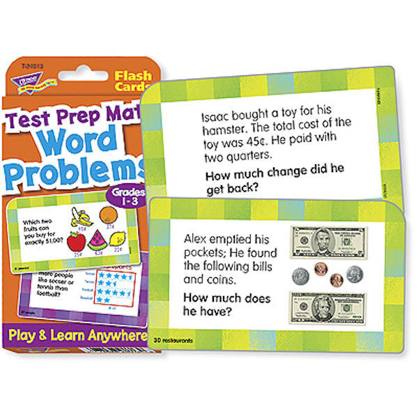 Test Prep Math Word Problems Grades 1 thru 3 - EducationalLearningGames.com