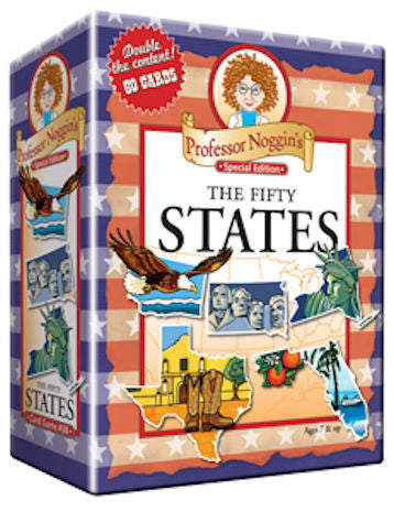 The Fifty States Professor Noggin's Card Game - EducationalLearningGames.com