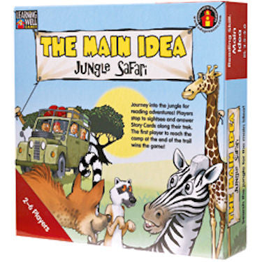 The Main Idea Jungle Safari Game, Red Level - EducationalLearningGames.com