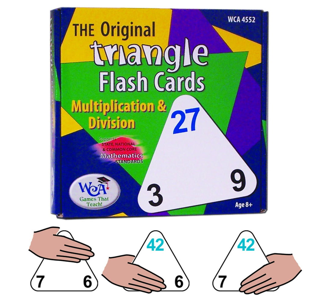 The Original Triangle Flash Cards Multiplication & Division Game