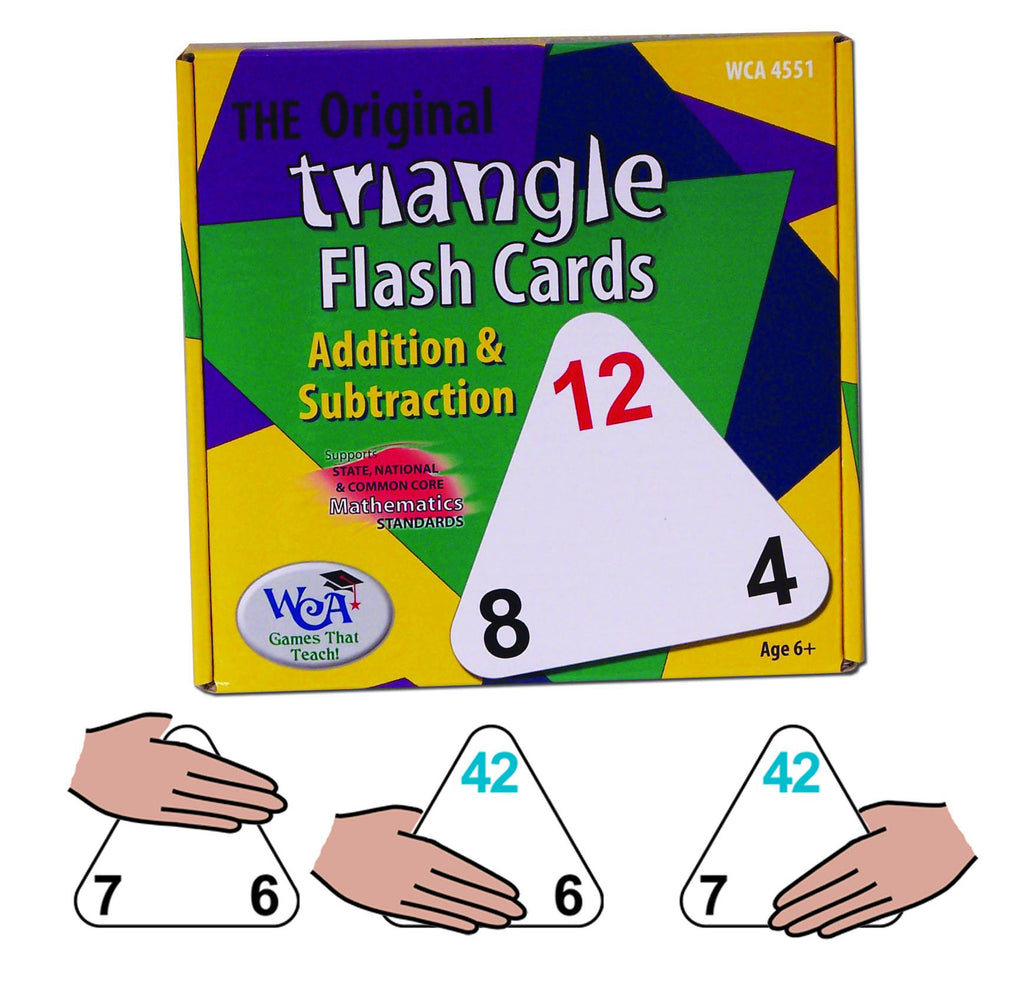 The Original Triangle Flash Cards Addition & Subtraction