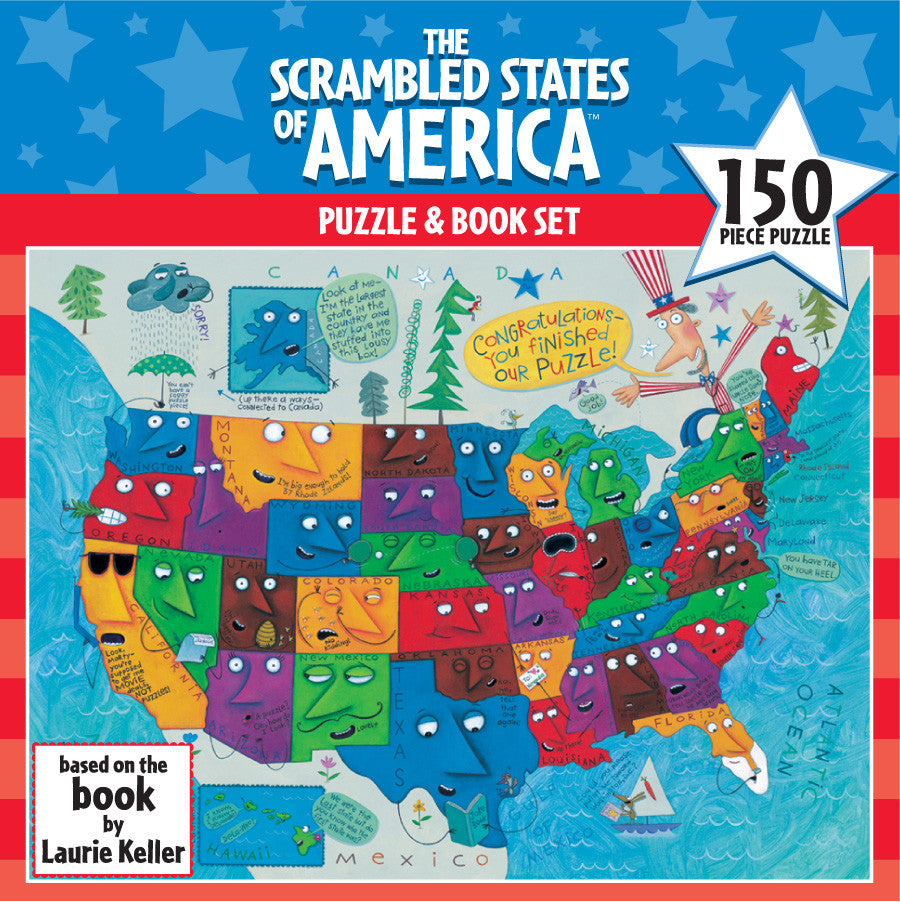 The Scrambled States of America Puzzle and Book Set EducationalLearningGames.com