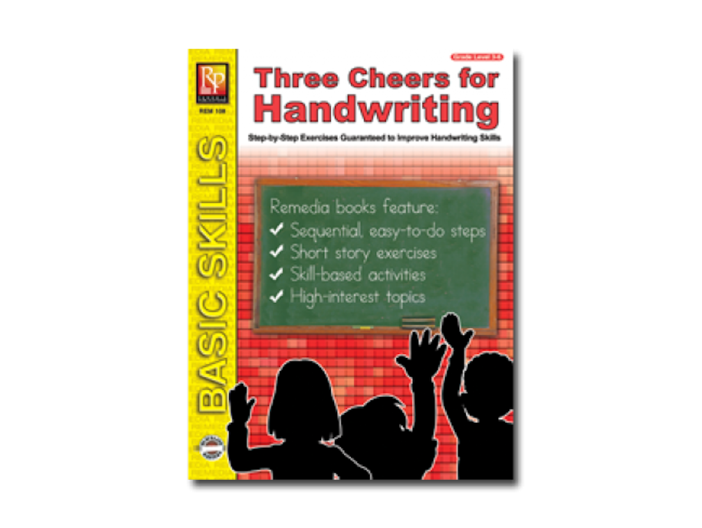 Three Cheers for Handwriting Workbook - EducationalLearningGames.com