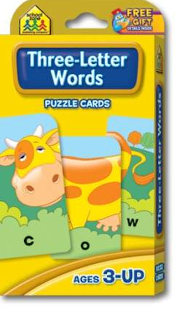 Three Letter Words Puzzle Cards - EducationalLearningGames.com