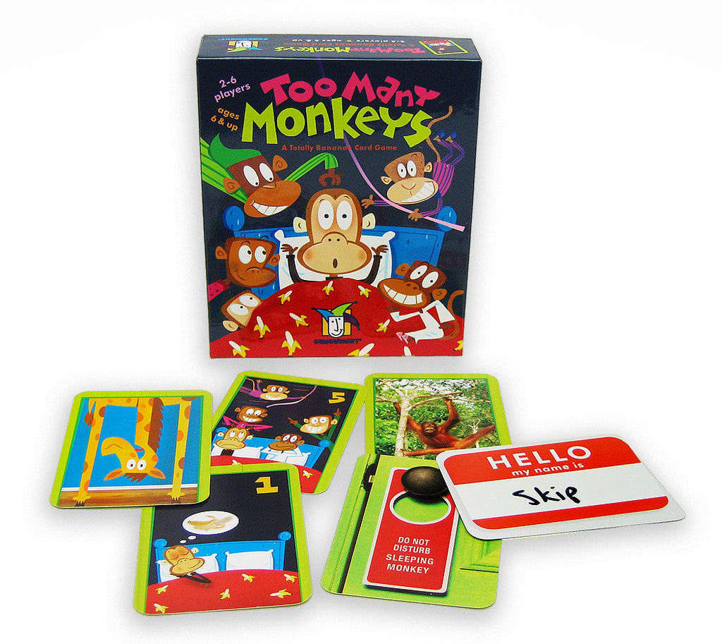 Too Many Monkeys Card Game - EducationalLearningGames.com