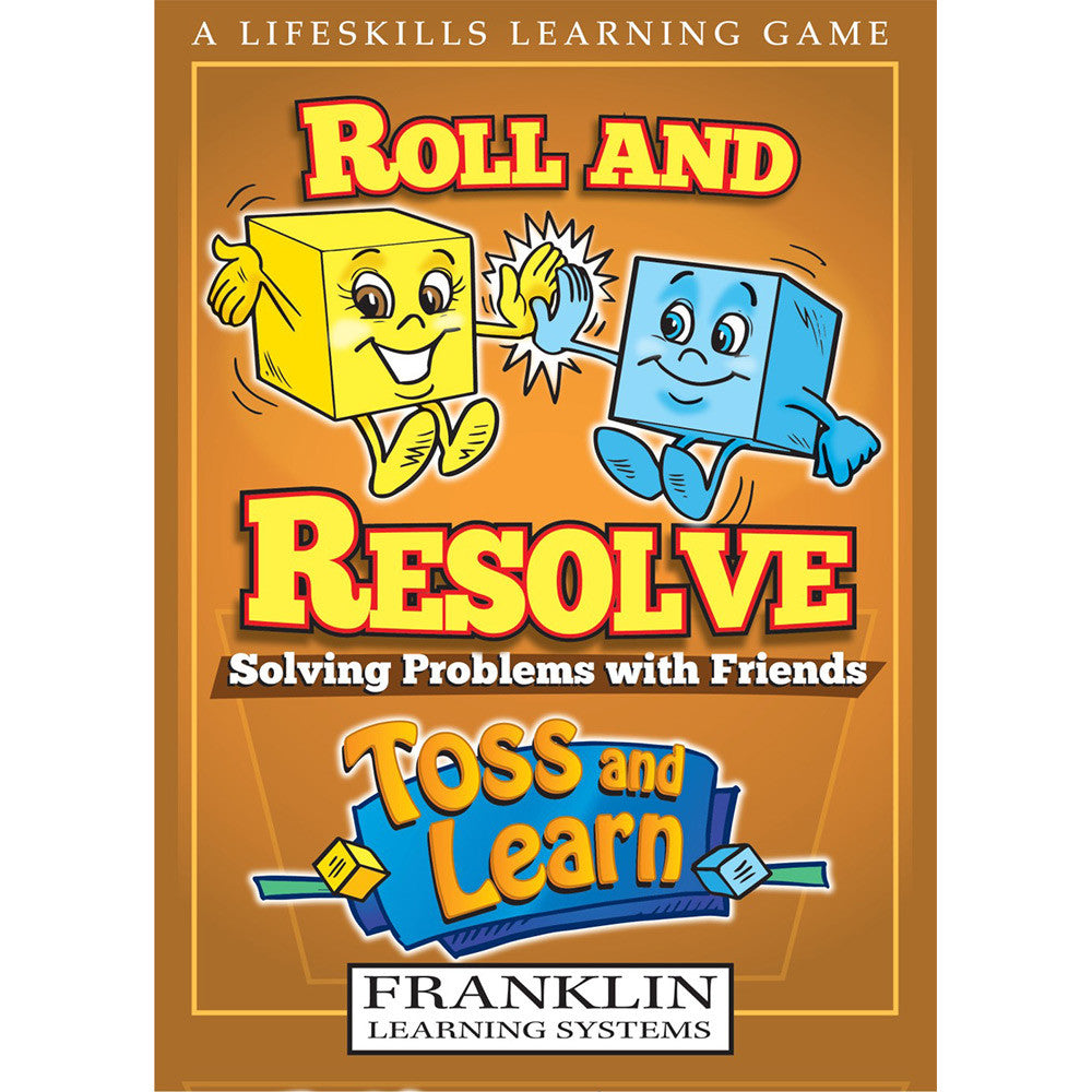 Toss and Learn Roll and Resolve Problem Solving Friends - EducationalLearningGames.com