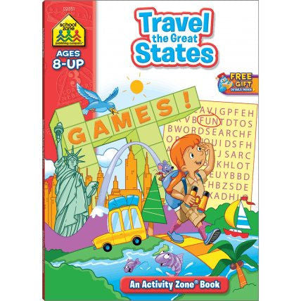 Travel the Great States Workbook - EducationalLearningGames.com