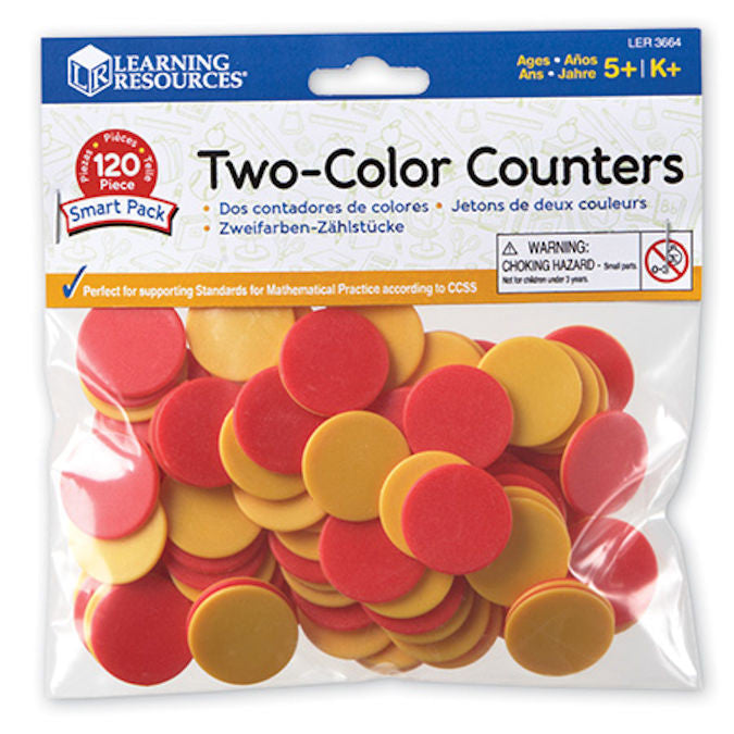 Two-Color Counters Smart Pack, Set of 120 - EducationalLearningGames.com