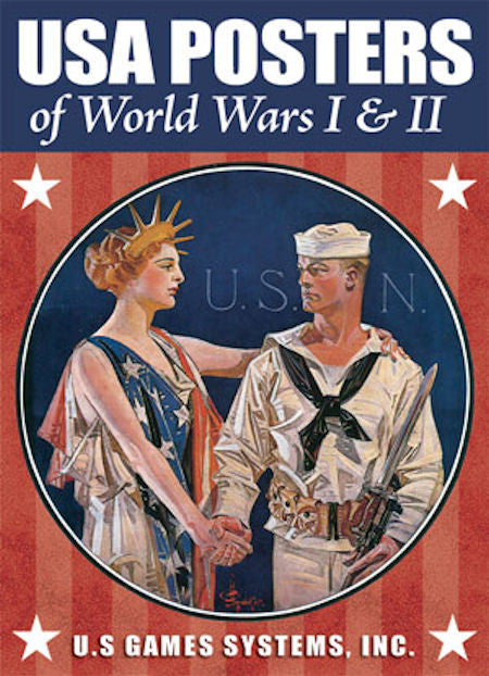 USA Posters of World Wars I and II Poker Deck - EducationalLearningGames.com
