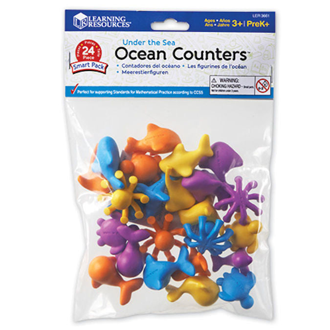 Under the Sea Ocean Counters Smart Pack, Set of 24 - EducationalLearningGames.com