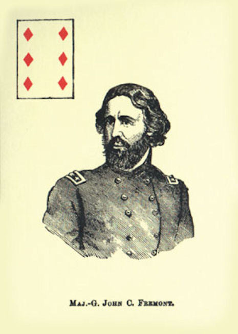 Union Generals Playing Cards Deck - EducationalLearningGames.com