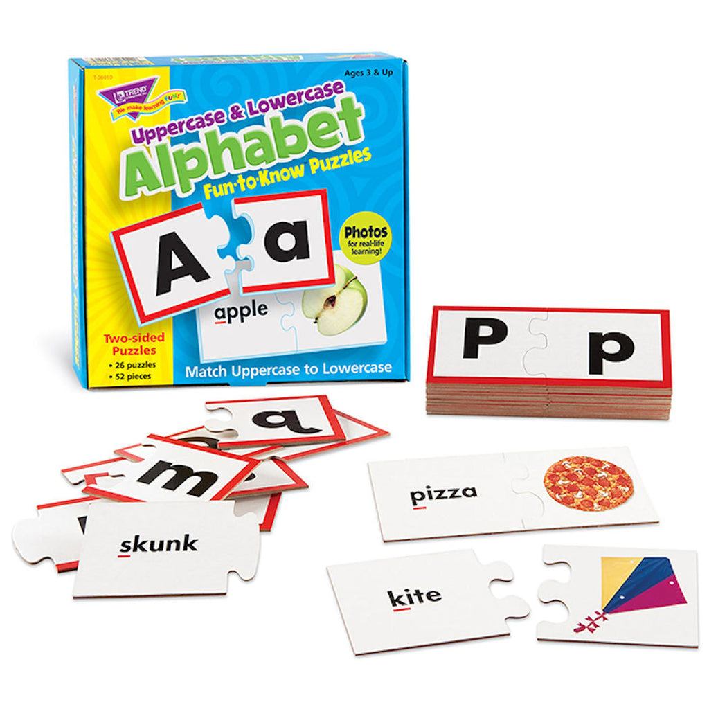 Uppercase and Lowercase Alphabet Fun-to-Know Puzzles - EducationalLearningGames.com