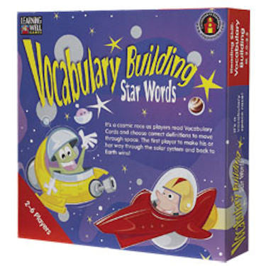 VOCABULARY BUILDING Star Words Game, Red Level EducationalLearningGames.com