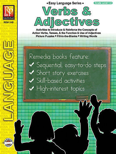 Verbs and Adjectives, Easy Language Series - EducationalLearningGames.com