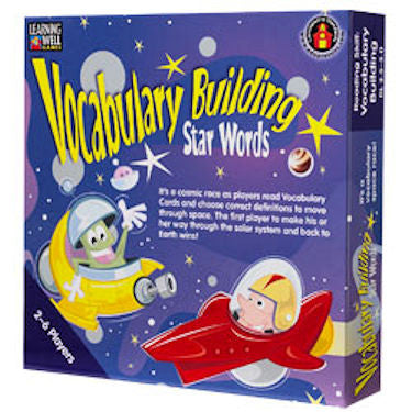 Vocabulary Building Star Words Game, Blue Level - EducationalLearningGames.com
