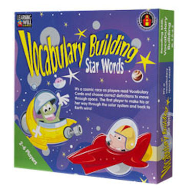 Vocabulary Building Star Words Game, Green Level EducationalLearningGames.com