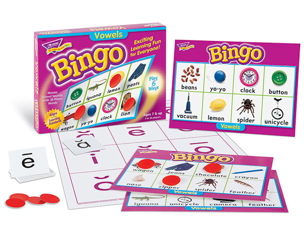 Vowels Bingo Game - EducationalLearningGames.com