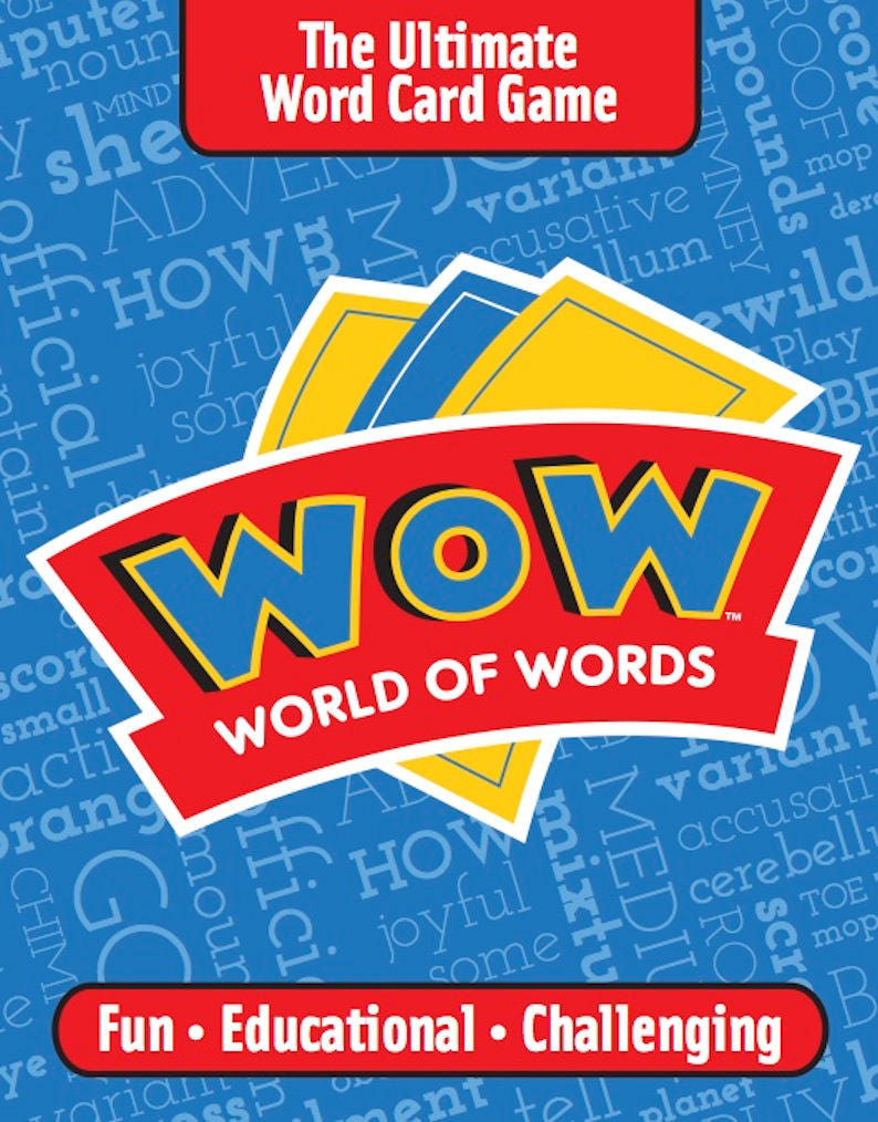 WOW World of Words The Ultimate Word Card Game - EducationalLearningGames.com