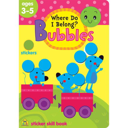 Where Do I Belong Bubbles Sticker Skill Book - EducationalLearningGames.com