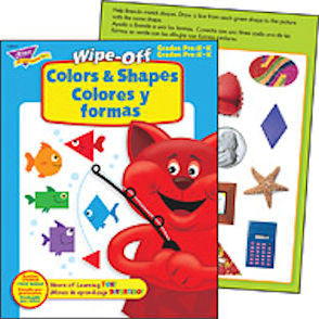 Wipe-Off Colors and Shapes Colores y formas Workbook for Kids in SPANISH - EducationalLearningGames.com