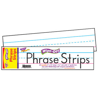 12-Inch White Wipe-Off® Phrase Strips