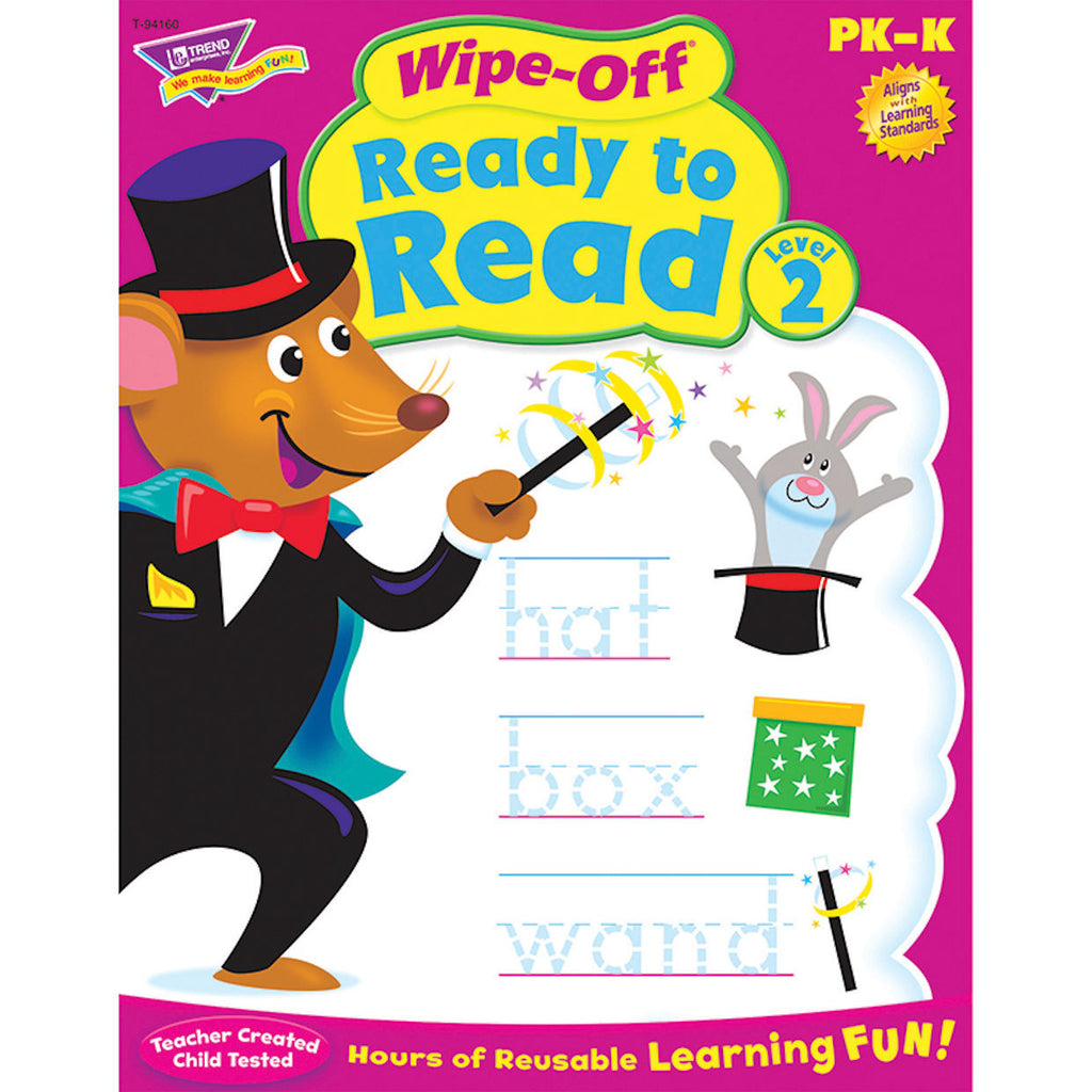 Wipe-Off Ready to Read Level 2, Workbook for Kids - EducationalLearningGames.com