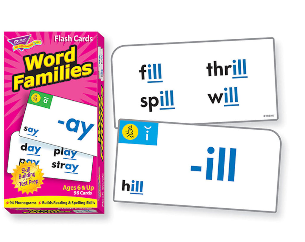 Word Families Skills Drill Flash Cards - EducationalLearningGames.com