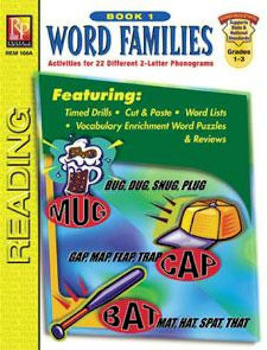 Word Families Workbook, Book 1 EducationalLearningGames.com