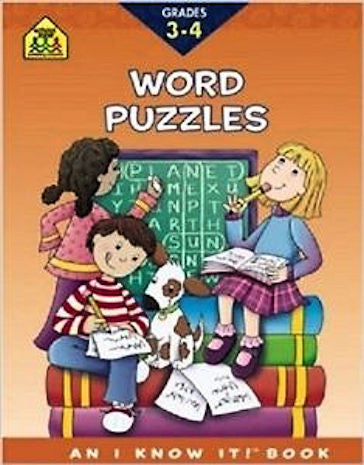 Word Puzzles Workbook Grades 3 - 4 EducationalLearningGames.com