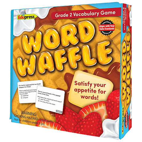 Word Waffle Vocabulary Game, Grade 2 EducationalLearningGames.com