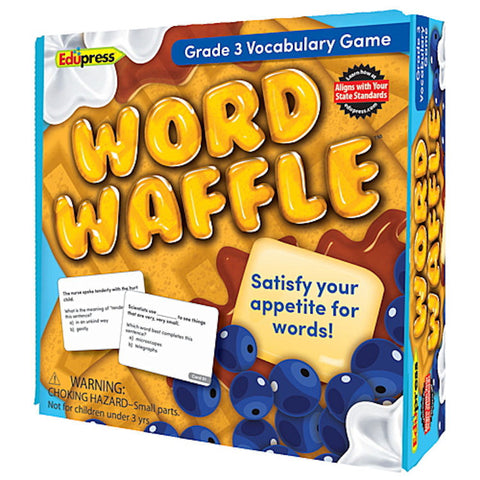 Word Waffle Vocabulary Game, Grade 3 EducationalLearningGames.com