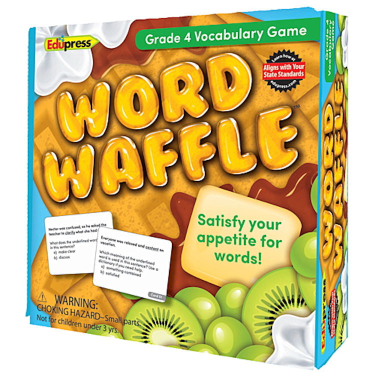 Word Waffle Vocabulary Game, Grade 4 EducationalLearningGames.com