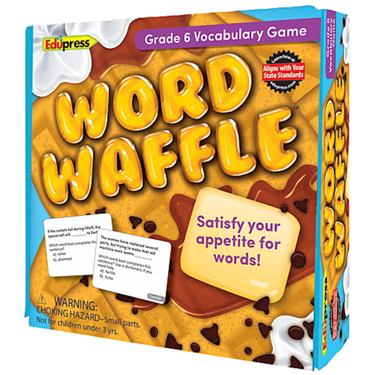 Word Waffle Vocabulary Game, Grade 6 EducationalLearningGames.com