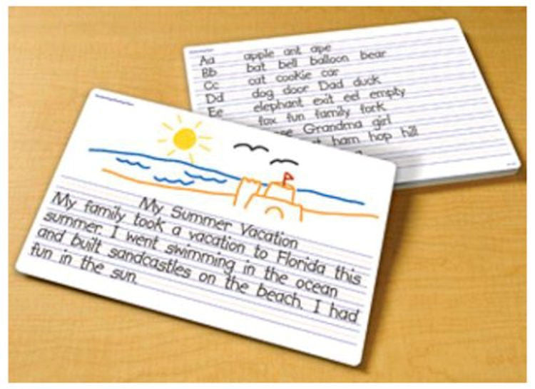 Write-on Wipe-off Handwriting Desk Mats, Set of 30 Ages 5+