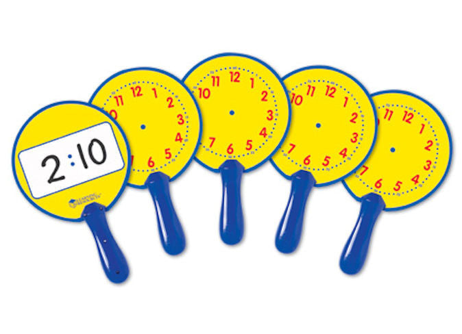 Write and Wipe Clock Telling Time Dry Erase Boards, Set of 5 EducationalLearningGames.com