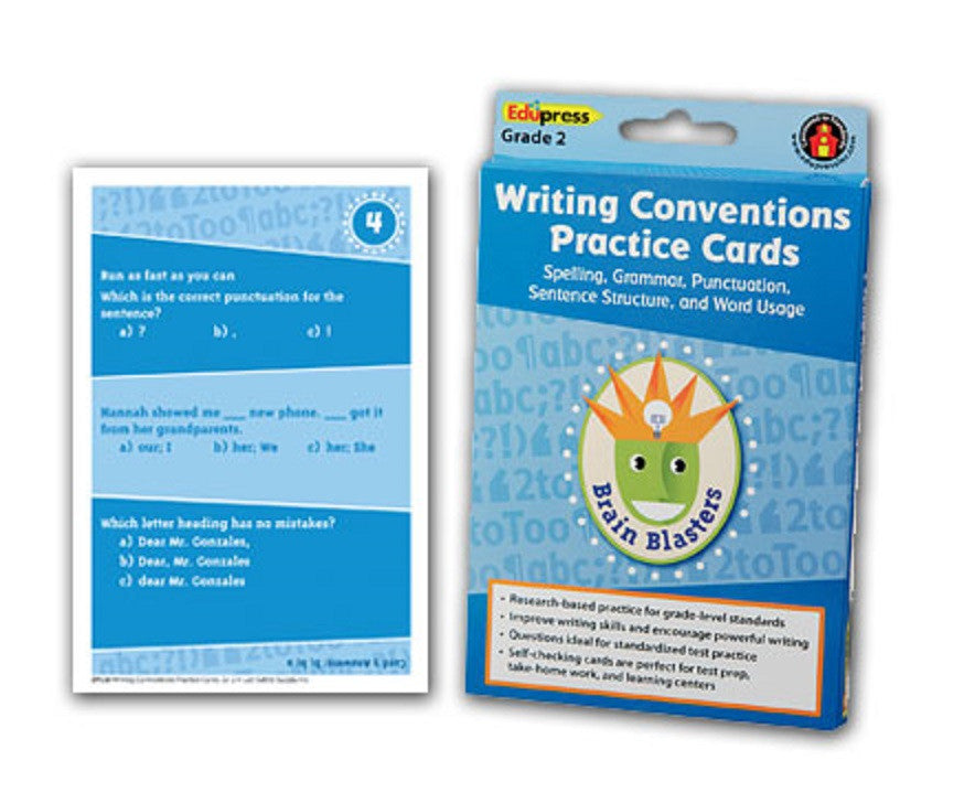 Writing Conventions Practice Cards, Grade 2