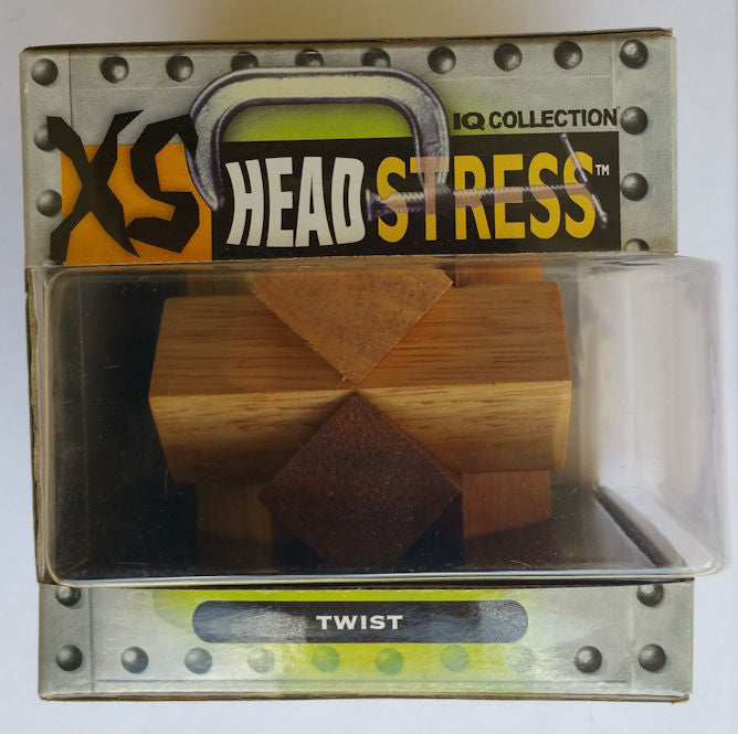 XS HeadStress Twist Wooden Brainteaser Puzzle - EducationalLearningGames.com