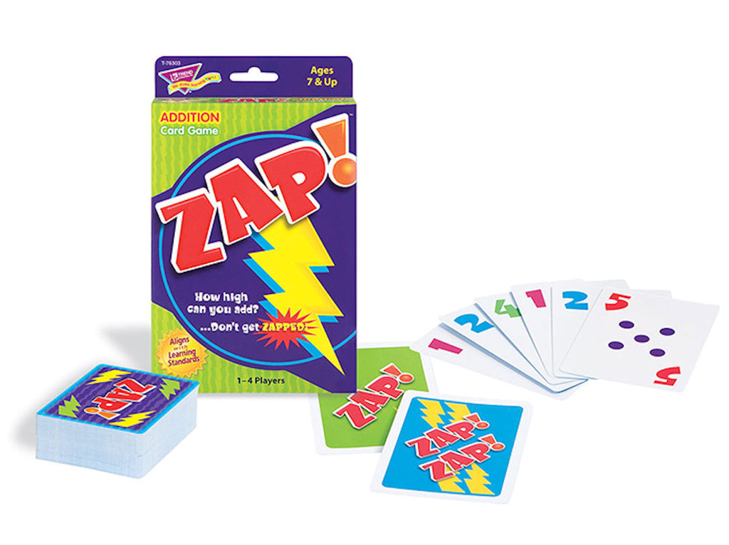 Zap Addition Math Card Game - EducationalLearningGames.com