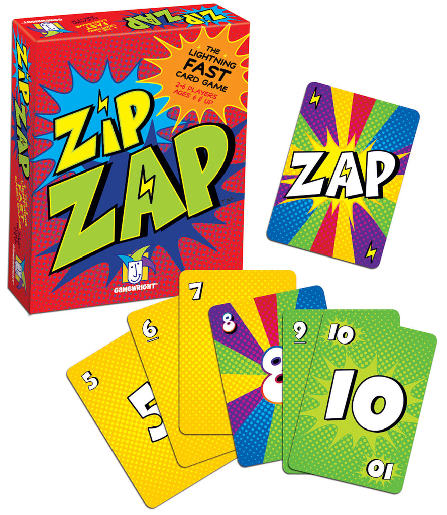Zip Zap Card Game EducationalLearningGames.com