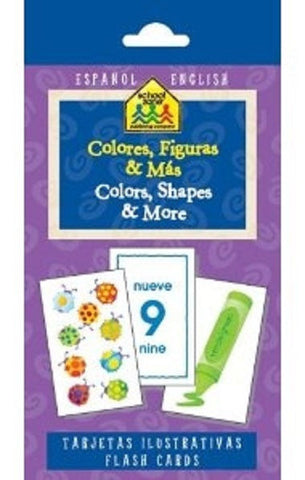 Spanish Bilingual Colors, Shapes and More Flash Cards EducationalLearningGames.com